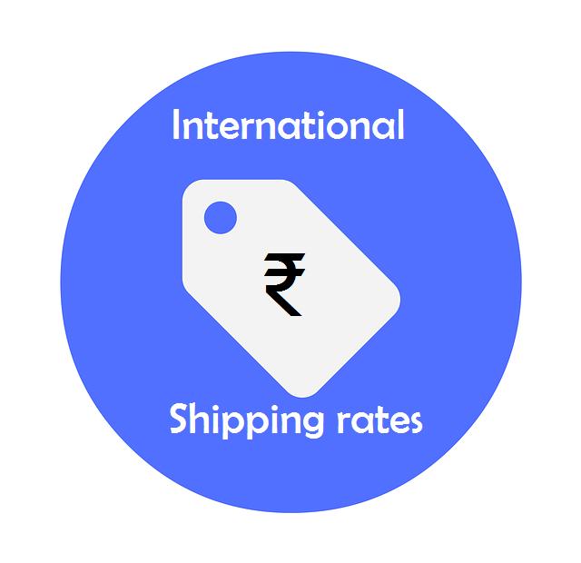 international shipping rate